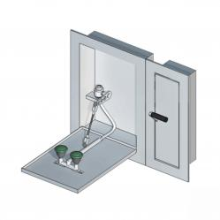Safety eye showers wall mounted, recessed