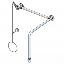 PremiumLine body safety shower with valve, above door installation, exposed pipework