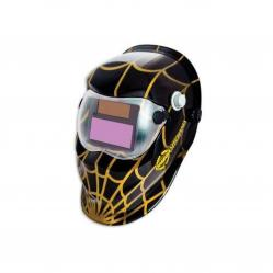 Car darkening welding helmet