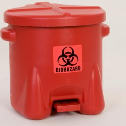 Biohazardous poly waste cans
