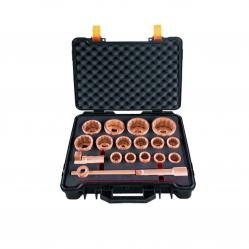 A set of intrinsically safe heads 30-80mm. 1