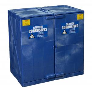 Modular quik-assembly poly acid corrosive safety cabinets