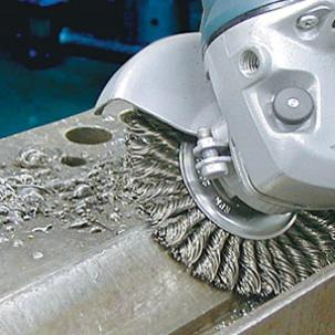 Cleaning tools for angle grinders